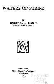 Cover of: Waters of strife | Bennet, Robert Ames