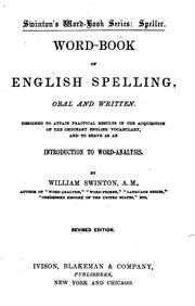 Cover of: Word-book of English spelling, oral and written | William Swinton