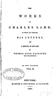 Cover of: The works of Charles Lamb