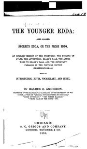 Cover of: The Younger Edda: also called Snorre's Edda, or the Prose Edda