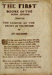 Cover of: The faerie queene by Edmund Spenser