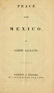 Cover of: Peace with Mexico