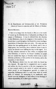 [ Speech]  to the Kirk-sessions and congregations of the Presbyterian Church of Canada in connection with the Church of Scotland by Jenkins, John