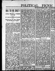 Cover of: Political picnic at Halifax, Wednesday, October 1st, 1890