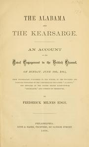 Cover of: The Alabama and the Kearsarge