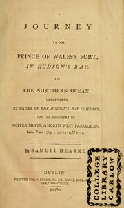 Cover of: A journey from Prince of Wale's fort, in Hudson's Bay, to the Northern Ocean