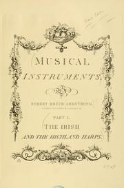 Cover of: Musical instruments