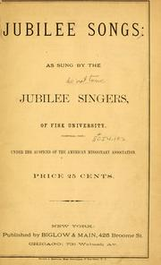 Cover of: Jubilee songs | Jubilee Singers.