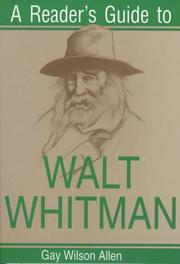 A reader's guide to Walt Whitman by Gay Wilson Allen