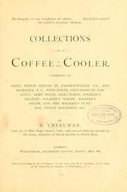 Cover of: Collections of a coffee cooler | Samuel Creelman