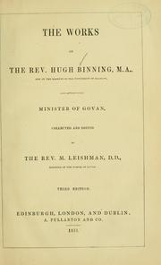 Cover of: The works of the Rev. Hugh Binning