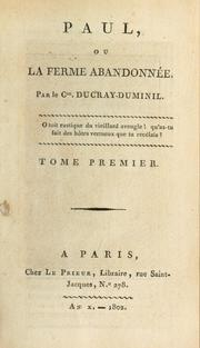 Cover of: Paul, ou, La ferme abandonnée