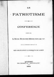 Cover of: Le patriotisme