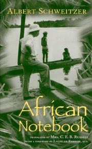 Cover of: African notebook