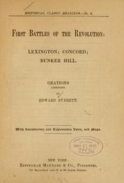 Cover of: First battles of the revolution