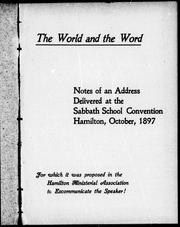 Cover of: The world and the word | S. H. Blake