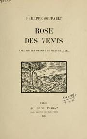 Cover of: Rose des vents
