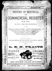 Cover of: History of Montreal and commercial register for 1885 | Borthwick, J. Douglas