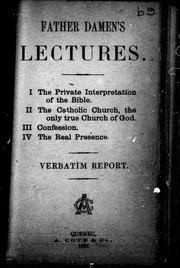 Father Damen's lectures by Arnold Damen