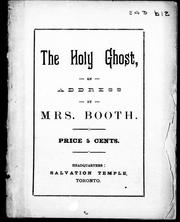 Cover of: The Holy Ghost: an address