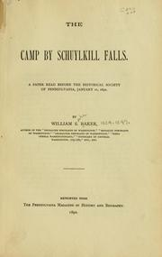 Cover of: The camp by Schuylkill Falls | Baker, William Spohn