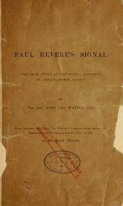 Paul Revere's signal by John Lee Watson