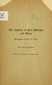 Cover of: The capture of Fort William and Mary | Charles Lathrop Parsons