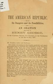 Cover of: The American republic | George, Henry