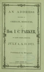 Cover of: An address delivered at Oregon, Missouri