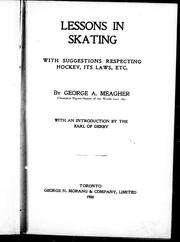 Cover of: Lessons in skating