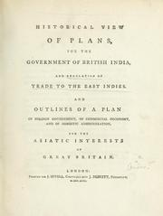 Cover of: Historical view of plans, for the government of British India