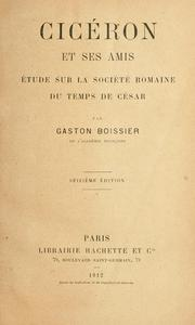 Cover of: Ciceron et ses amis