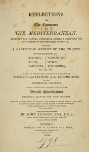 Cover of: Reflections on the commerce of the Mediterraneanay result to the English by holding possessions in the Mediterranean, as nearly to equal their West India trade