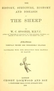 Cover of: The history, structure, economy and diseases of the sheep. by W. C. Spooner
