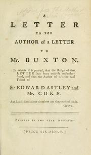 Cover of: A letter to the author of a Letter to Mr. Buxton