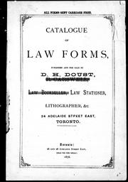 Cover of: Catalogue of law forms |