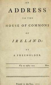Cover of: An address to the House of Commons of Ireland | Caldwell, James Sir