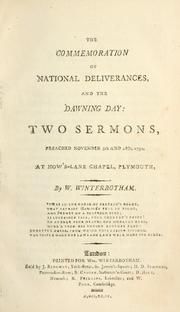 Cover of: The commemoration of national deliverances, and the dawning day