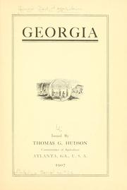 Cover of: Georgia | Georgia. Dept. of agriculture