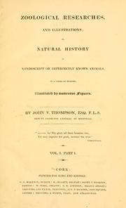 Cover of: Zoological researches and illustrations