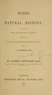 Cover of: Notes on natural history | Andrew Pritchard