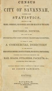 Cover of: Census of the city of Savannah | Joseph Bancroft
