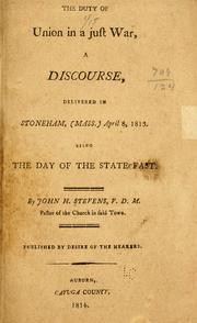 The duty of union in a just war by Stevens, John H.
