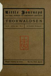 Cover of: Thorwaldsen