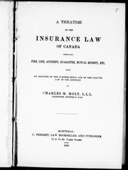 Cover of: A treatise on the insurance law of Canada |
