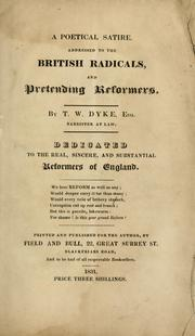 Cover of: poetical satire | T. W. Dyke