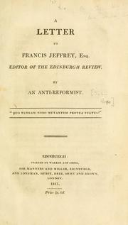Cover of: letter to Francis Jeffrey, Esq., editor of the Edinburgh review | Hope, John Lord Justice Clerk.
