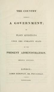 Cover of: The country without a government