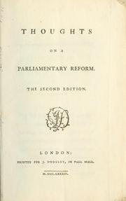Thoughts on a parliamentary reform by Jenyns, Soame