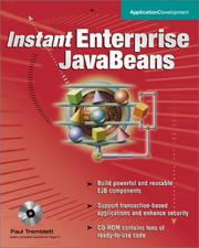 Instant Enterprise JavaBeans by Paul Tremblett